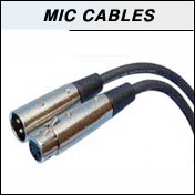 Microphone cables in custom lengths and colors, blue, red, neon
