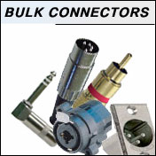 bulk audio xlr and cable connectors