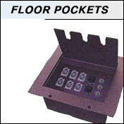 audio pocket stage floor boxes for microphones and data