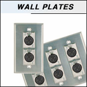 audiio wall plates for microphones, headphones and speakers