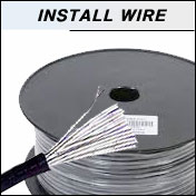 bulk installation audio wire sold by the foot