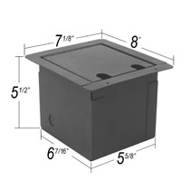 recessed audio floor box dimensions