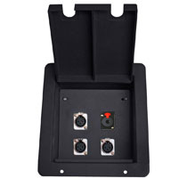 recessed stage box with 3 xlr mic female and 1 TRS1/4