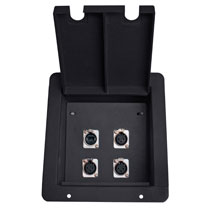 recessed floor box with 8 xlr mic female