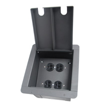 recessed floor box with 4 AC Power Outlets