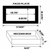 STUD6 wall box dimensions
