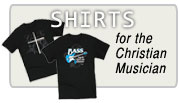 T-shirts for musicans in church music